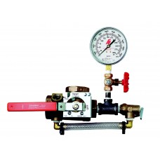 1011T - Test and Drain Valve With Pressure Relief and Gauge