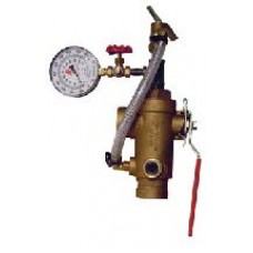 2511T - Test and Drain Valve With Pressure Relief and Gauge