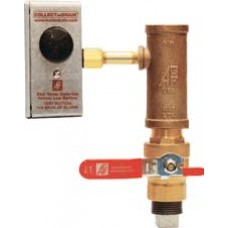 5150ALBV - Water Detector Alarm with Ball Valve and Reversible Water Collection Tee