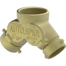 6410-6415 DOUBLE CLAPPER TWO-WAY STRAIGHT INLET FDC BODY - BRASS