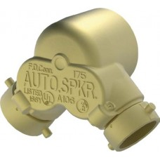 6420-6425 DOUBLE CLAPPER TWO-WAY 90-DEGREE INLET FDC BODY - BRASS