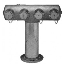 6545 - FOUR-WAY FREESTANDING INLET FDC