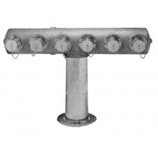 6551, 6556 - SIX-WAY FREESTANDING INLET FDC WITH CLAPPER SNOOTS